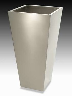 Tapered Sq Stainless Planter