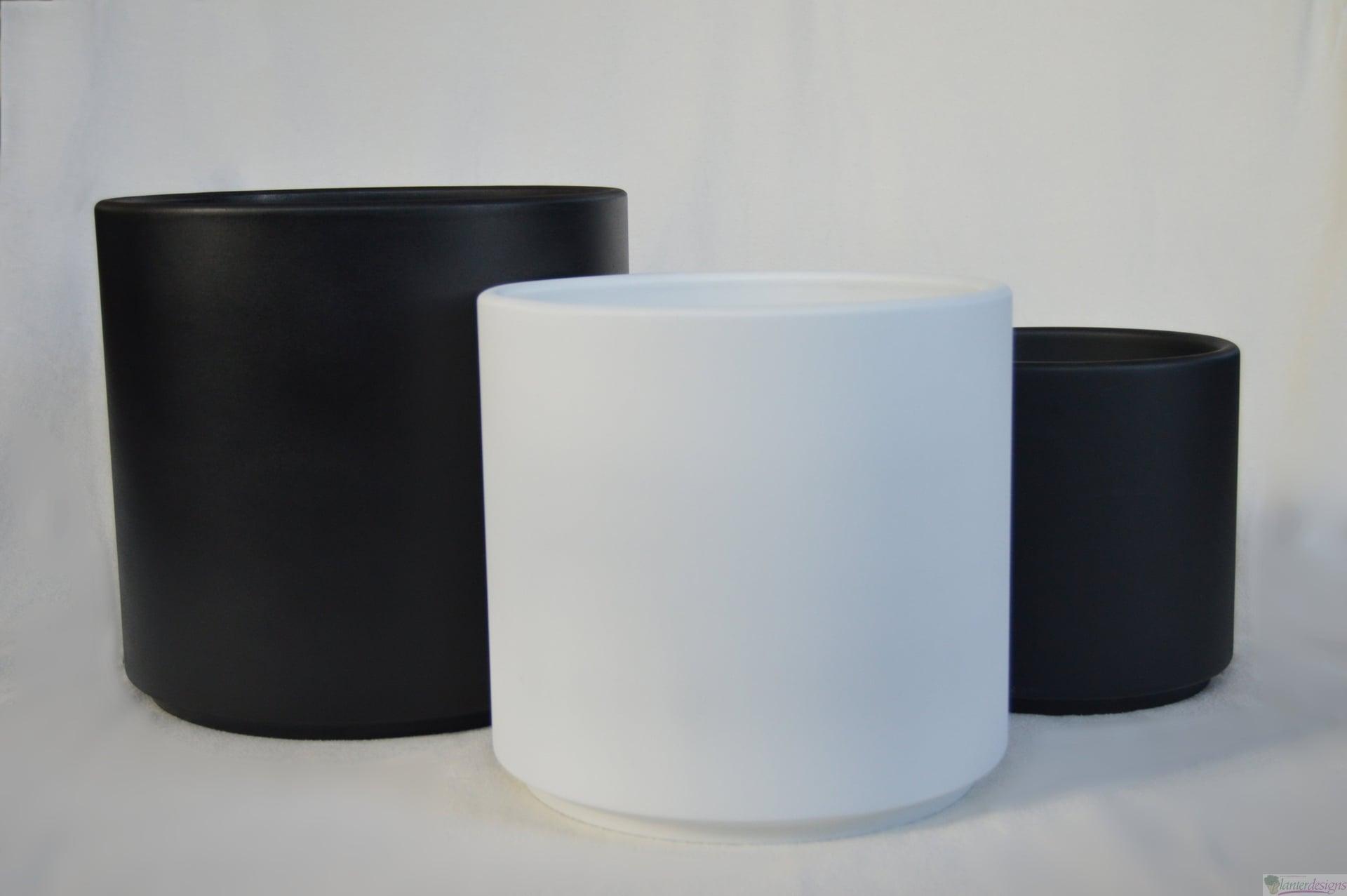 Polyceramic Cylinder Planter