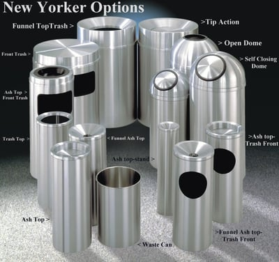 GLO-New Yorker Series-Satin Aluminum Receptacles