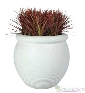 Colo-Tapered Urn or bowl style fiberglass planters.