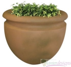 COL Columbia-Tapered Urn or bowl style fiberglass planters.