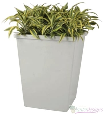 Square Rimmed Tapered Planters