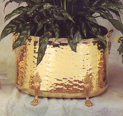 Traditional Oblong Planters Hammered (OBO)