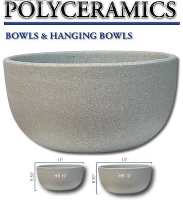 Hanging Polyceramic Planter Bowls