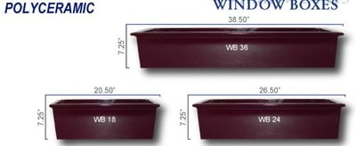 Polyceramic Window Box Planters
