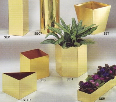 Straight Edge Square Planter