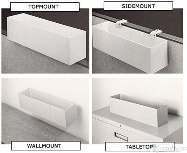 Top Mountable Plastic Rectangular Planter Boxes Topsider