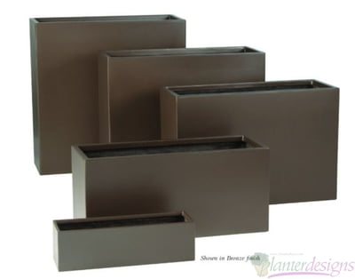 E Wall Rectangular planter