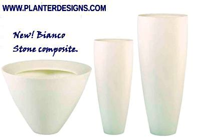 beautiful stone composit planter vases