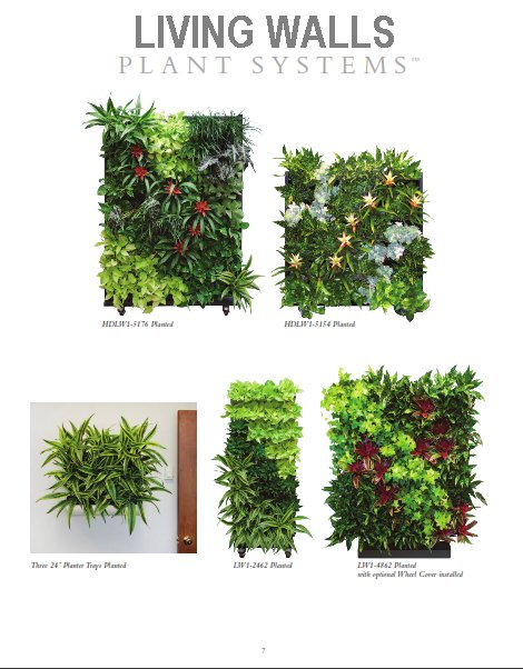 Living walls - wall planting systems