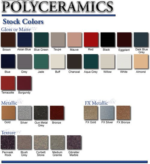 polyceramics color guide